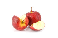 Fresh red  juicy  apples fruit on white background Royalty Free Stock Images