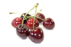 Fresh red juicy cherries Stock Images