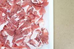 Fresh red meat chopped Stock Image