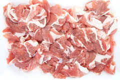 Fresh red meat chopped Stock Photography
