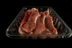 Fresh red meat packed Stock Photos