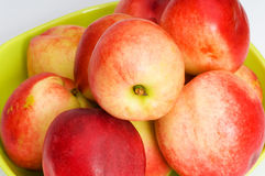 Fresh red nectarines Royalty Free Stock Photography