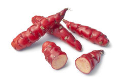 Fresh red New Zealand yams Stock Photography