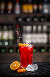 Fresh red non alcoholic cocktail Stock Images