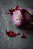 Fresh red onion food background Stock Photography