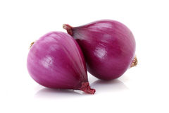 Fresh red onions isolated Royalty Free Stock Images