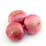 Fresh red onions isolated on white Royalty Free Stock Photo