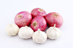 Fresh red onions  on white. Background Stock Image