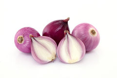 Fresh red onions on white Stock Photography