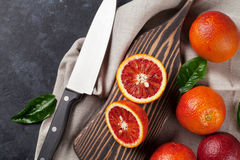 Fresh red orange fruits Royalty Free Stock Photos
