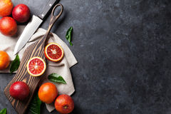 Fresh red orange fruits Royalty Free Stock Photography