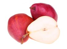 Fresh red pears Stock Photo