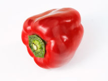 Fresh red pepper. Fresh red bell pepper isolated on white background royalty free stock photography