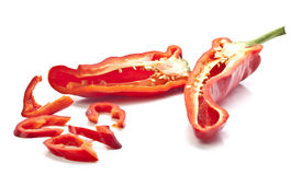 Fresh red pepper Stock Photo