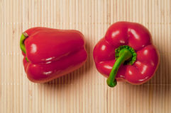 Fresh Red Peppers Stock Photo
