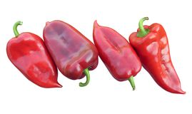Fresh red peppers Stock Photography