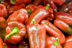 Fresh red peppers Stock Image