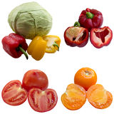 Fresh red peppers  Tomato Ripe. Royalty Free Stock Photos