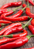 Fresh red peppers Royalty Free Stock Images