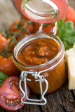 Fresh red pesto Stock Image