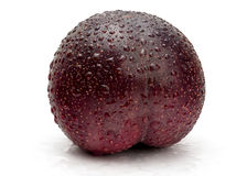 Fresh Red Plum Stock Photo