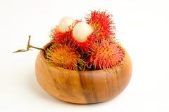 Fresh red rambutan fruit Royalty Free Stock Images