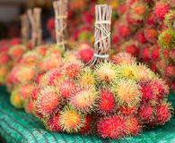 Fresh red rambutan. Tropical fruit in Thailand Royalty Free Stock Image