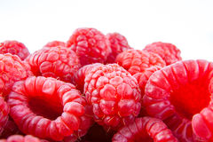 Fresh red raspberries Royalty Free Stock Images