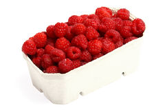 Fresh red raspberries isolated. On white background Royalty Free Stock Image