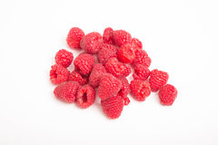 Fresh Red Raspberries on White Counter Stock Photography