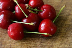 Fresh red ripe cherries Royalty Free Stock Images