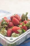 Fresh red ripe organic strawberries Royalty Free Stock Photography