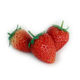 Fresh red ripe strawberries isolated Royalty Free Stock Photo