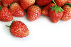 Fresh red ripe strawberries isolated Royalty Free Stock Image