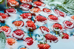 Fresh red ripe strawberries Royalty Free Stock Images
