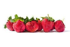 Fresh red ripe strawberries on white background Stock Photography