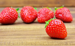 Fresh red ripe strawberries. Royalty Free Stock Image