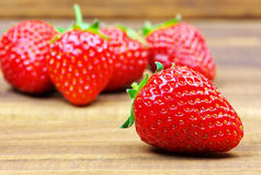 Fresh red ripe strawberries Royalty Free Stock Photo