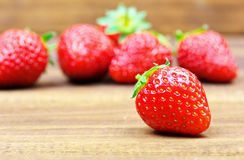 Fresh red ripe strawberries Royalty Free Stock Image