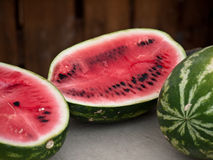 Fresh red ripe watermelon Royalty Free Stock Image
