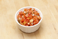 Fresh Red Salsa Royalty Free Stock Photos