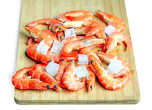 Fresh red shrimps Stock Image