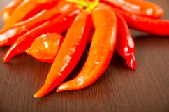 Fresh red spicy chilli aji chile Royalty Free Stock Photo