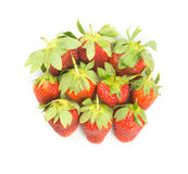 Fresh red strawberries. On white Stock Photo