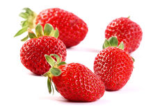 Fresh red strawberries Stock Photos