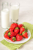 Fresh red strawberries in bowl Royalty Free Stock Photos