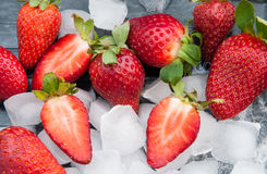Fresh red strawberries Stock Images