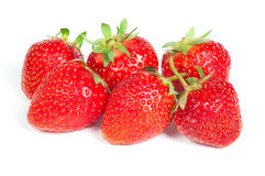 Fresh red strawberries. Over white background Royalty Free Stock Photos