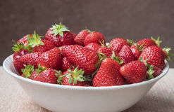 Fresh, red strawberries in plate. Finally, fresh products of spring available on markets Stock Photography