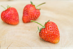 Fresh red strawberries Stock Photography